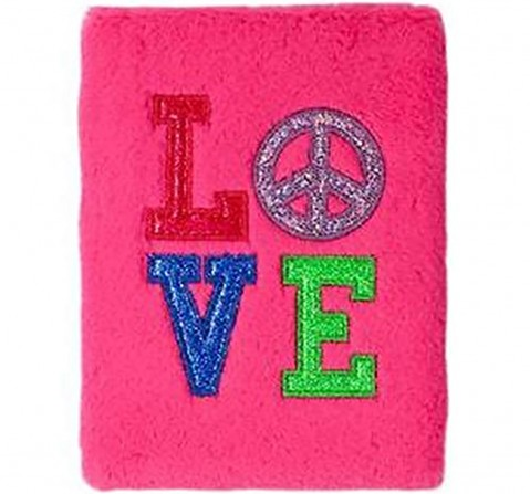 Mirada Love Plush Notebook With Lock - Study & Desk Accessories for Kids age 3Y+ (Pink)