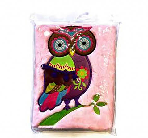 Mirada Winky The Owl Plush Notebook- Study & Desk Accessories for Kids age 3Y+ (Pink)