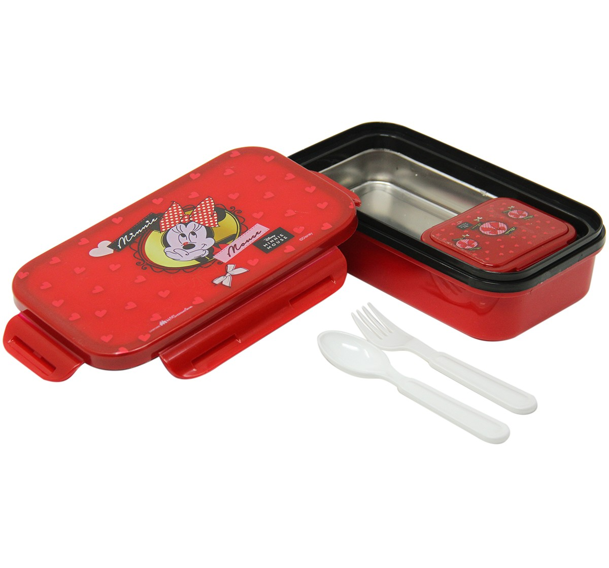 Disney Insulated Lunch Box Minnie Lunch Bags & Boxes for Kids age 3Y+ (Red)