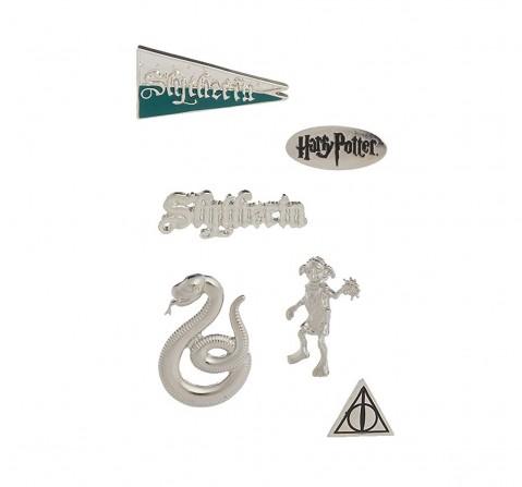 Efg Harry Potter 6Pcs Slytherin Pin Set for Kids age 5Y+ (Silver)