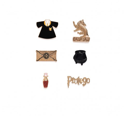 Efg Harry Potter Hufflepuff Protego Pin Set for Kids age 7Y+