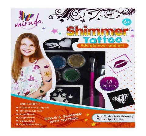 Mirada Shimmer & Sparkle Glitter Glam Tattoo Body DIY Art & Craft Kits for Girls age 3Y+