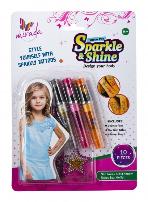 Mirada : Tattoo Pens –  Sparkle and Shine  DIY Art & Craft Kits for Kids age 3Y+