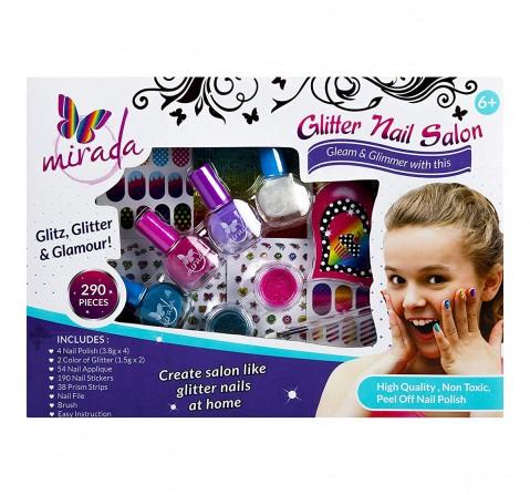 Mirada Glitter Nail Salon DIY Art & Craft Kits for Kids age 5Y+