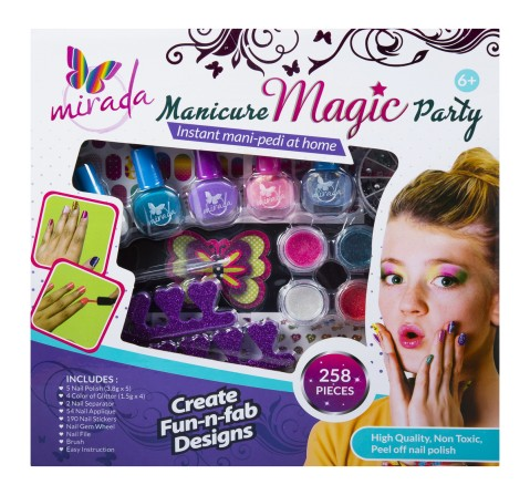 Mirada Manicure Magic Party DIY Art & Craft Kits for Kids age 5Y+