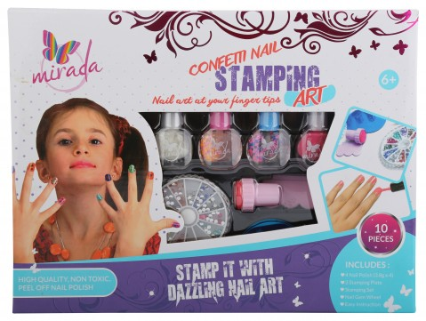 Mirada Nail Stamping -10Pcs DIY Art & Craft Kits for Girls age 6Y+