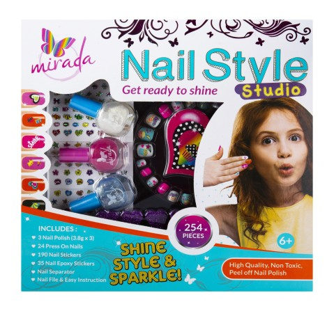 Mirada Nail Style Studio DIY Art & Craft Kits for Kids age 5Y+