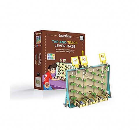 Smartivity Tap and Track Lever Maze:  Stem, Learning, Educational and Construction Activity Toy Gift  for Kids age 6Y+