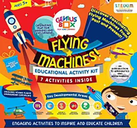 Genius Box Flying Machines-7 Activities Science Kits for Kids age 5Y+