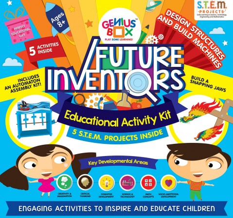 Genius Box Future Inventors -5 Projects Science Kits for Kids age 5Y+