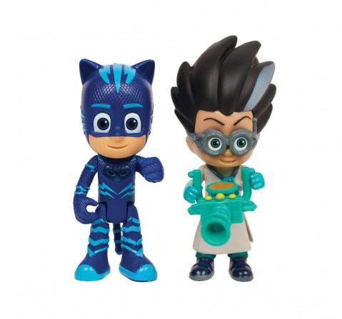 Pj Masks Light Up Figures - Cat Boy & Romeo Activity Toys for Kids age 3Y+