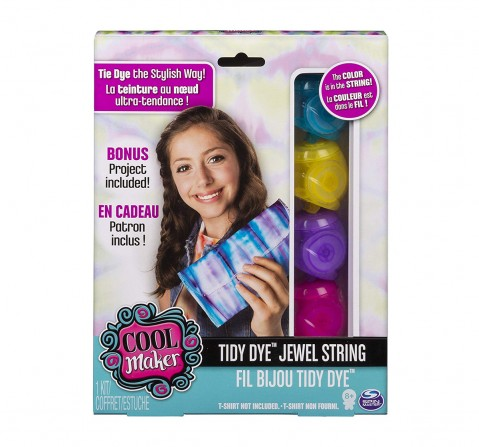 Tidy Dye Cool Maker  Jewel String Kit For Fabric Dying DIY Art & Craft Kits for Kids age 3Y+