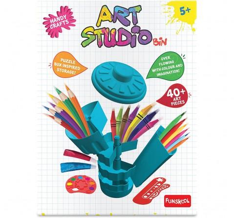Funskool Art Studio Bin-Blue DIY Art & Craft Kits for Kids age 5Y+ (Blue)