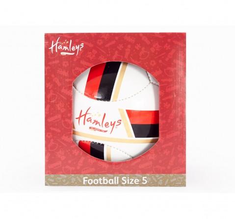 Hamleys Star Strips PU Football for Kids age 3Y+ (White)