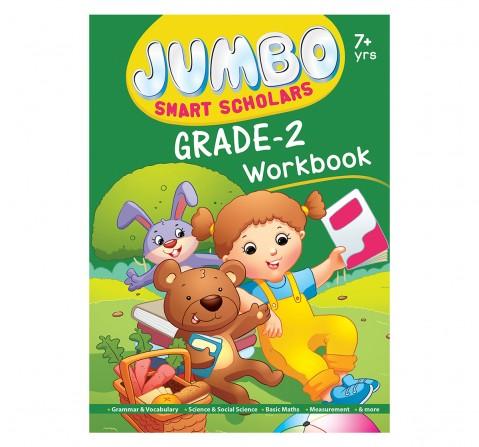 Jumbo Smart Scholars Grade 2 Workbook Activity Book, 320 Pages, Paperback