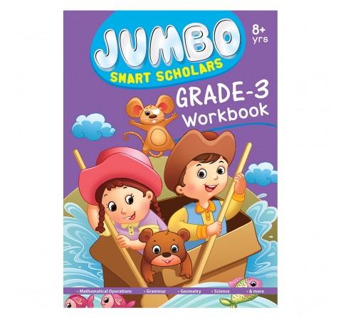 Jumbo Smart Scholars Grade 3 Workbook Activity Book, 320 Pages, Paperback