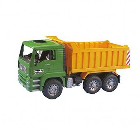 Bruder 1:16 MAN Yellow TGA Tip Up Truck Vehicles for Kids age 3Y+