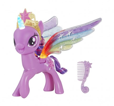 My Little Pony Rainbow Wings Twilight Sparkle -- Pony Figure With Lights And Moving Wings  Collectible  for Girls age 3Y+