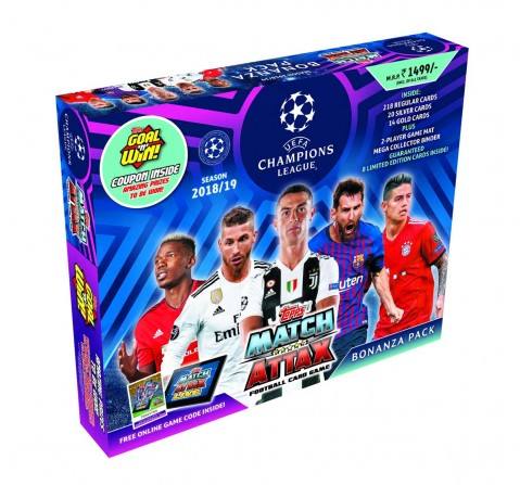 Topps UEFA Champions League Blue Carry Box 2018-19 Collectibles for Kids age 5Y+