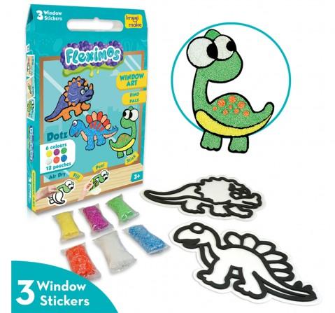Imagimake Window Art - Dino Pals, 2Y+ (Multicolor)