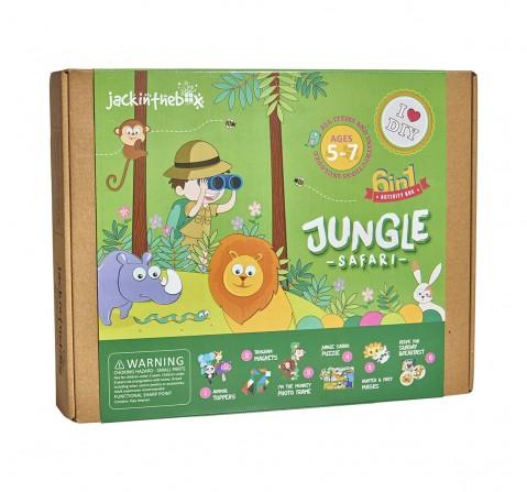 Jack in The Box Jungle Safari 6-in-1 DIY  Art & Craft Kits for Kids age 4Y+