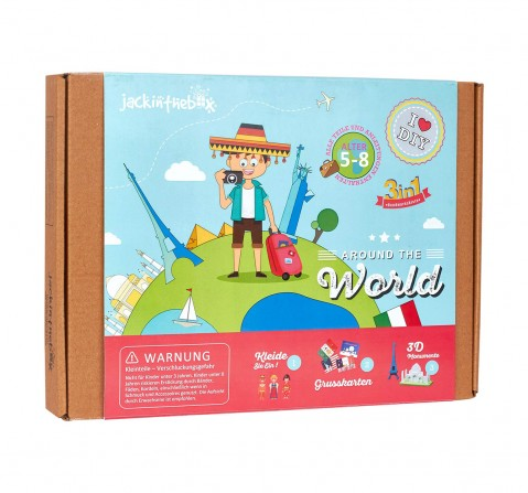 Jack in The Box Around the World 6-in-1 DIY Art & Craft Kits for Kids age 4Y+