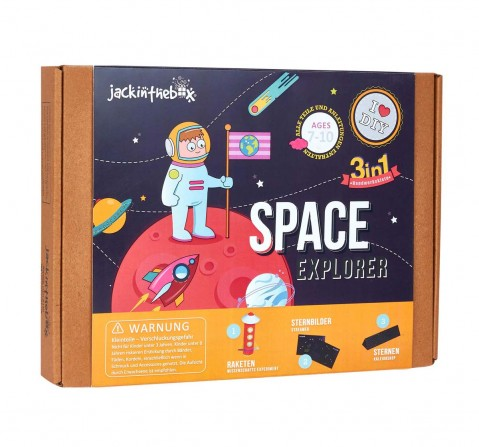 Jack in the Box Space Explorer 3-in-1 DIY Craft Box , Art & Craft Kits for Kids age 3Y+