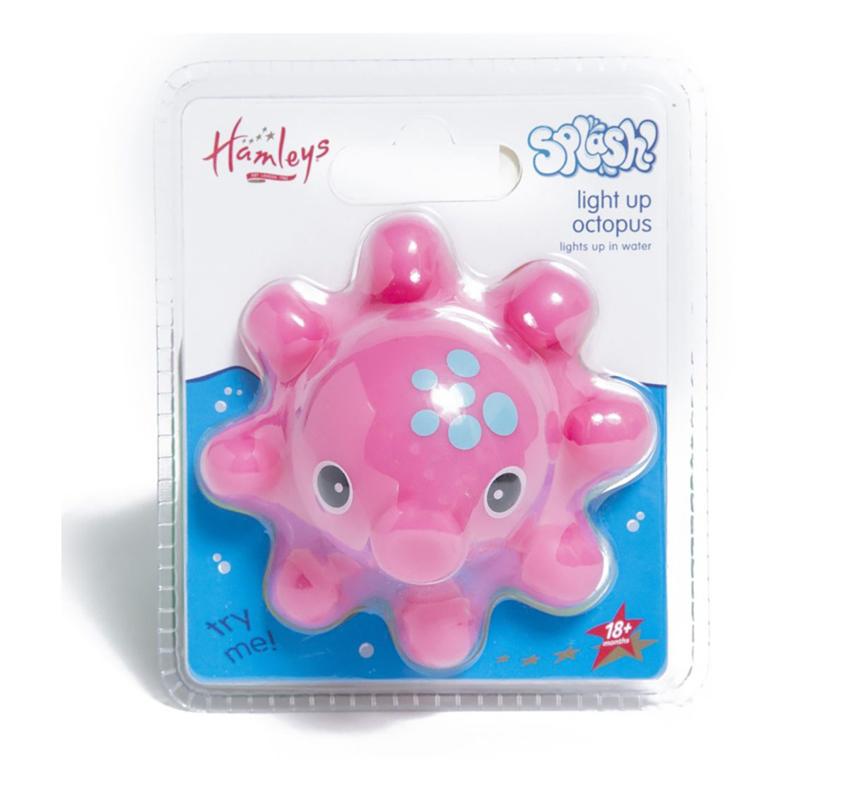 Hamleys Floating Light Up Octopus - Pink Bath Toys & Accessories for Kids age 2Y+ (Pink)