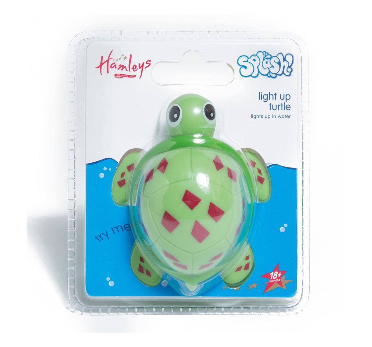 Hamleys Splash Light Up Turtle  -Green Bath Toys & Accessories for Kids age 18M + (Green)