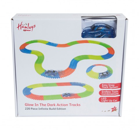 Hamleys Glow In The Dark Action Track 132 Pieces Set Tracksets & Train Sets for Kids age 3Y+