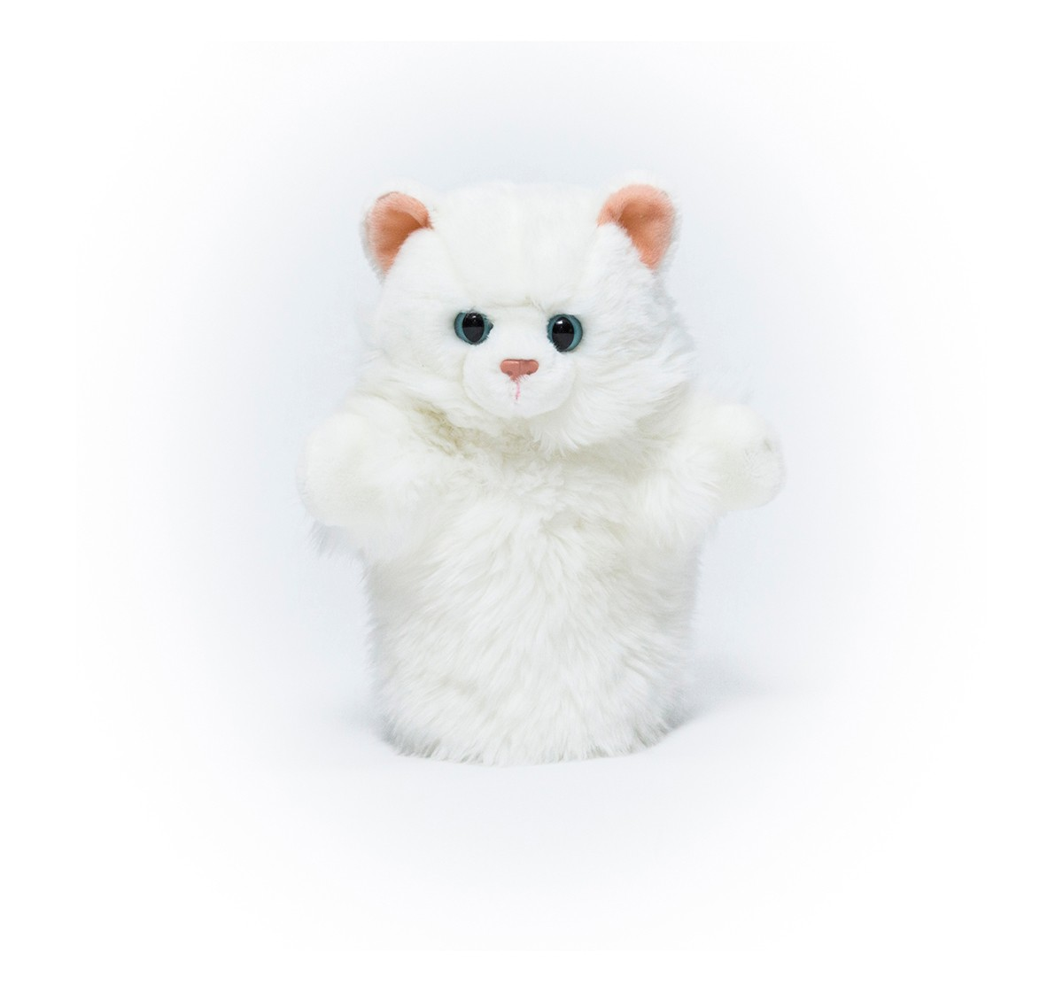 Hamleys Arthur The White Cat Puppet Plush Accessories for Kids age 3Y+ - 7 Cm (White)