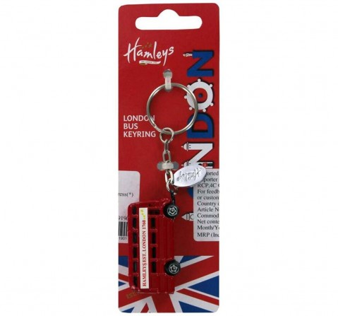 Hamleys London Bus Keychain -Red Plush Accessories for Kids age 12M+ - 6 Cm
