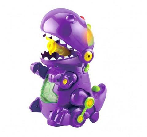 Hamleys Dino Bubble Machine- Purple Impulse Toys for Kids age 3Y+ (Purple)