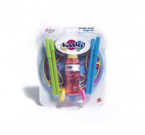 Hamleys Double Wand Mega Bubble Set Bags for Kids age 3Y+