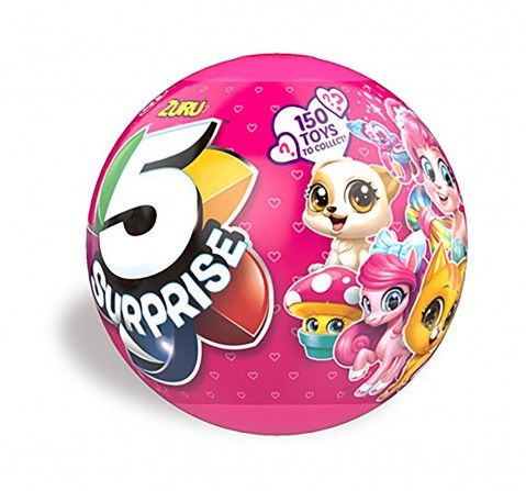 Zuru 5 Surprise Pink Mystery Capsule Collectable Novelty for Kids age 2Y+