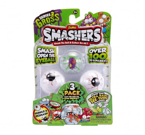 Zuru Smashers Collectables Series2 (Pack of 3) Novelty for Kids age 4Y+