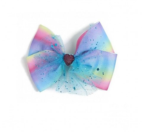Luvley Multicoloured Net Bow Clip Toileteries and Makeup for Girls age 3Y+
