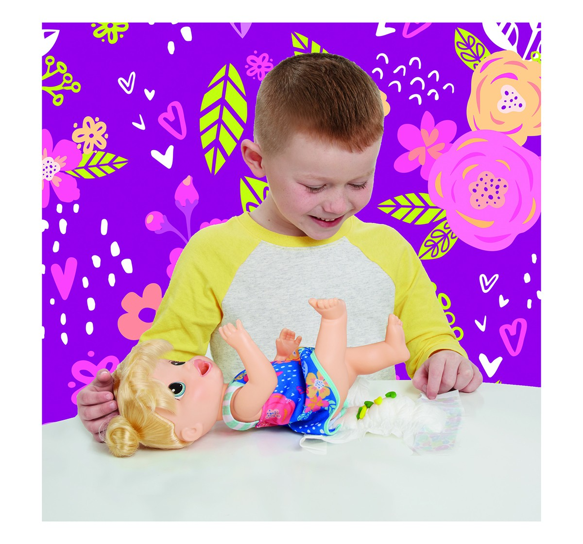 """Baby Alive Snacking Shapes: Baby Doll That Eats and """"Poops"""", Pasta Maker, Reusable Doll Food Dolls & Accessories for Girls age 3Y+"""