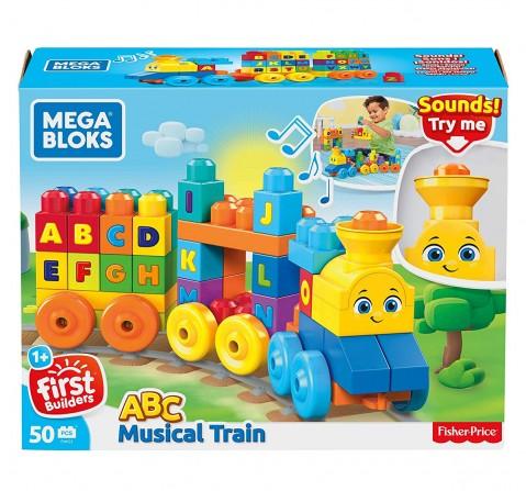 Mega Bloks Abc Musical Train Toddler Blocks for Kids age 1Y+