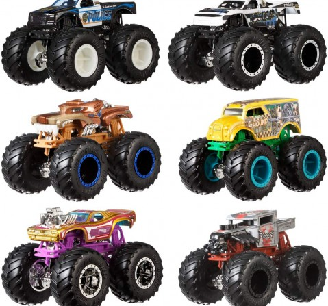 Hot Wheels 1:64 Monster Trucks Demolition Doubles Pack of 2 Vehicles for Kids age 3Y+