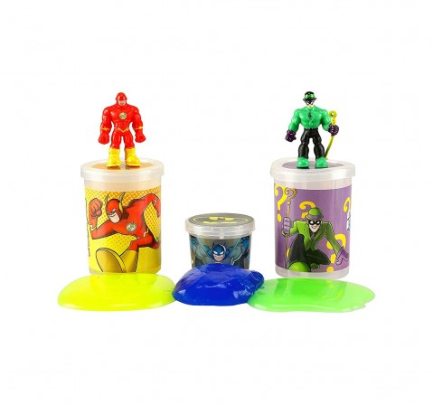 DC Super Friends Flash & Riddler Lantern Slime Mix with 2 Liquid & 1 Jelly Slime