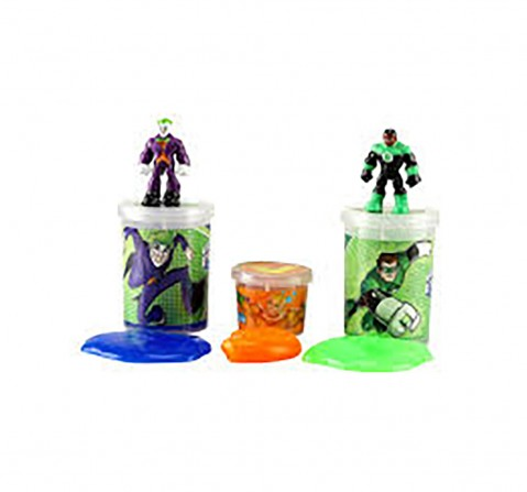 DC Super Friends The Joker & Green Lantern Slime Mix with 2 Liquid & 1 Jelly Slime