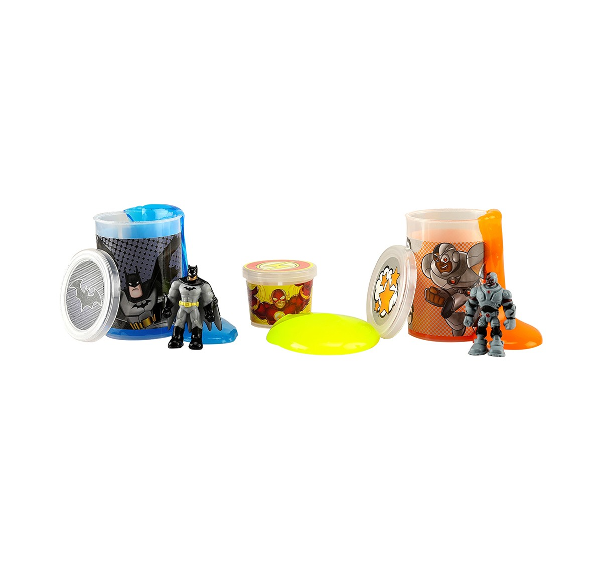 DC Super Friends Batman & Cyborg Slime Mix with 2 Liquid & 1 Jelly Slime