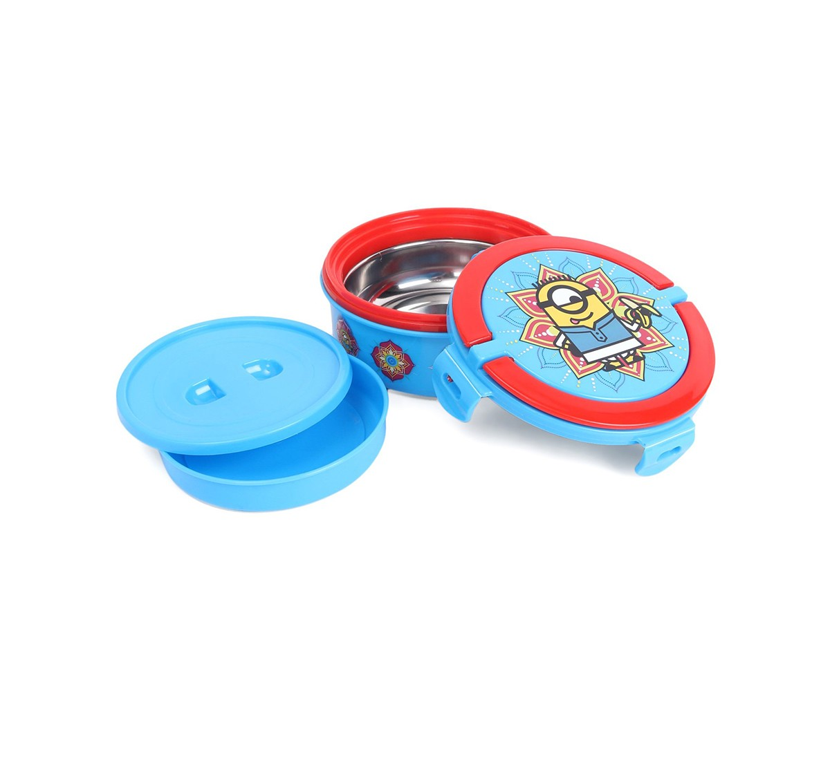 Minions Masala Round Small Lunch Box, 2Y+ (Multicolor)