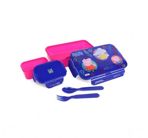 Peppa & Friends Blue & Pink Plastic Lunch Box, 2Y+