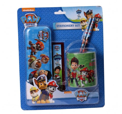Paw Patrol Stationery Set/Kit Of 5 (With Tin), 2Y+ (Multicolor)