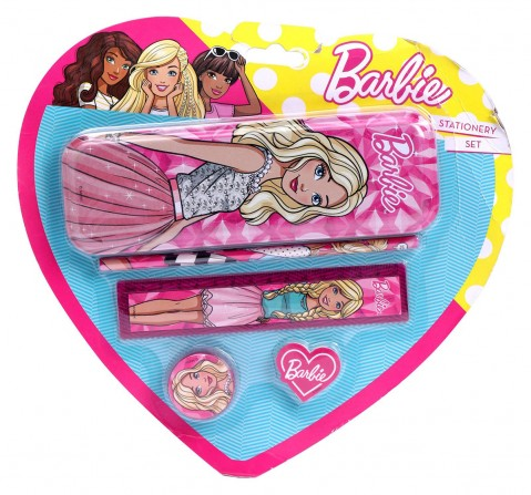 Barbie Stationery Set/ Kit Of 5 In Blister Card, 2Y+ (Multicolor)