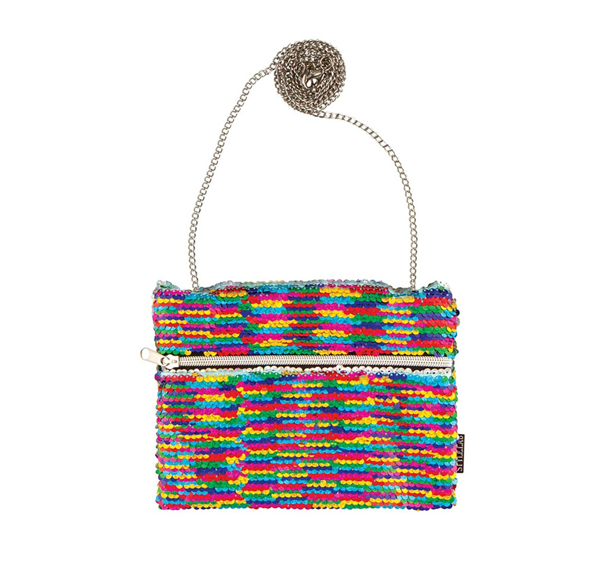 Fashion Angels Sequin Hip Bag Rainbow/Silver Travel for Girls age 6Y+