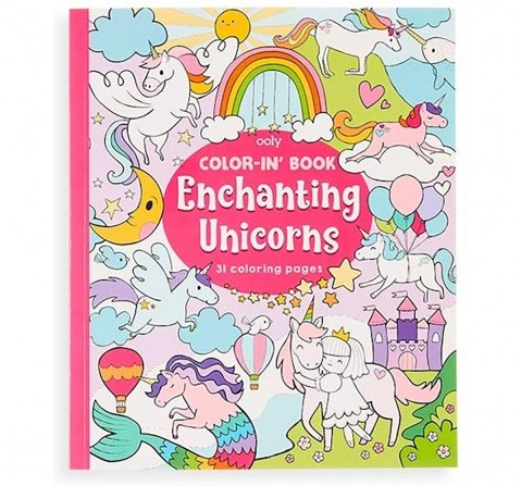 Ooly 31 Pages Enchanting Unicorns Colouring Book- Multicolour Books for Kids age 3Y+