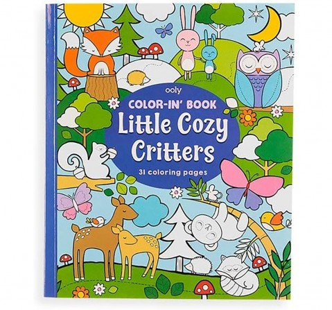 Ooly 31 Pages Little Cozy Critters Colouring Book- Multicolour Books for Kids age 3Y+
